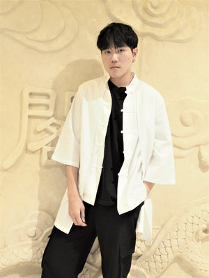 XI Attach-Outer Style Chinese White Blouse