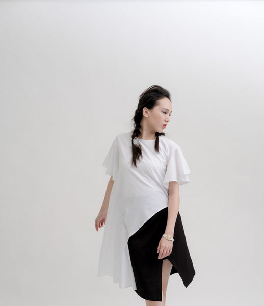 Lotus Leaf Edge Irregular Wave-Shaped Blouse