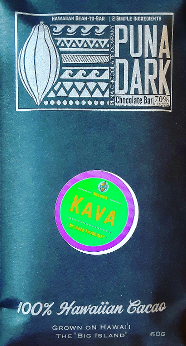 Kava Dark Chocolate - 70% Cacao - Big Island Awa