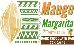 Mango Margarita in Dark Chocolate Bar