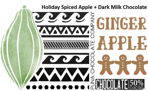 Ginger Apple Milk Chocolate Bar