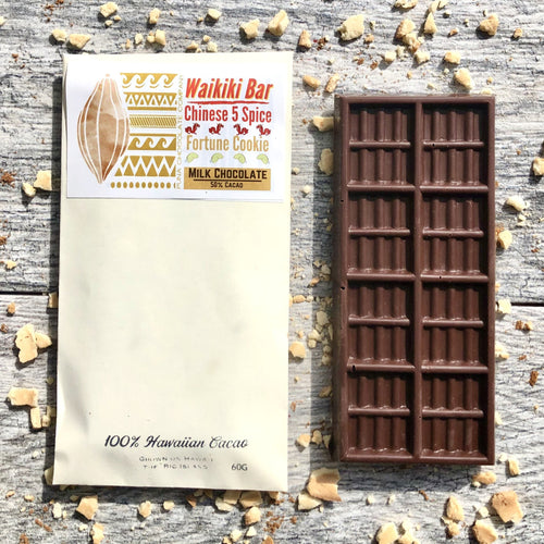 Chinese 5 Spice + Fortune Cookie in Milk Chocolate