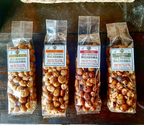 Honey Roasted Hawaiian Macadamia Nuts - 8oz Confectionary Flavors - Local Made in Kona
