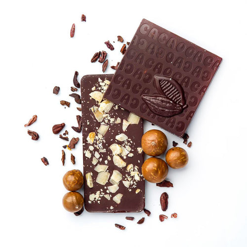 Macadamia Nut and Toasted Coconut - 70% Dark Chocolate Bar