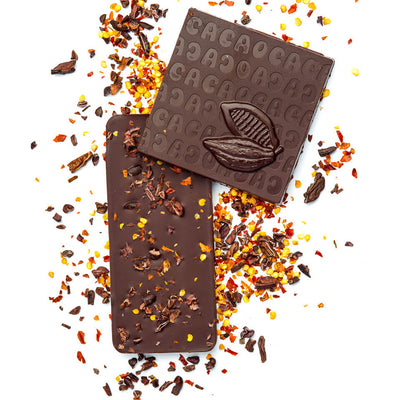 Aleppo Pepper & Cocoa Nibs - 70% Dark Chocolate