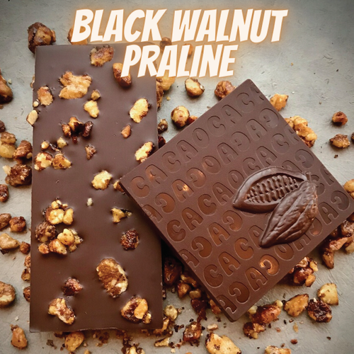 Black Walnut Praline Dark Chocolate Bar