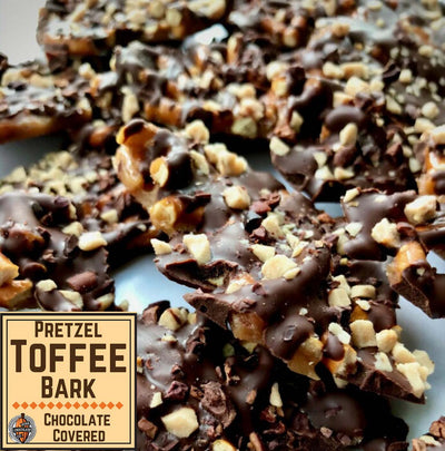 Pretzel Toffee Chocolate Bark