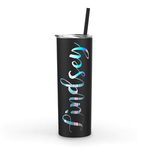 20oz Custom Name Tumbler with Straw