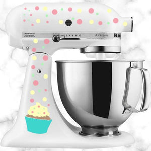 Cupcake and Dots Kitchen Aid Mixer Decal