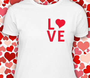 Simple LOVE shirt with heart