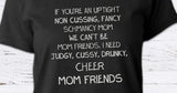 Cheer mom friend versus mom friend glitter T-shirt