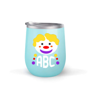 Clown Monogram Wine Tumbler with Straw (Customization Available)