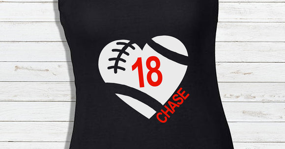 Football Heart Tank Top