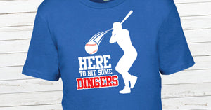 Here to Hit Some Dingers Youth Shirt