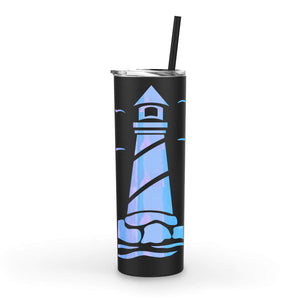20oz Lighthouse Tumbler with Straw (Customization Available)
