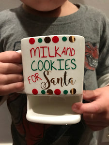 Santa's Cookies and Milk Mug