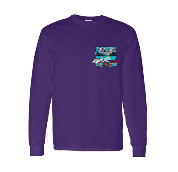 Jocassee Lake Tour Long Sleeve Adult and Youth Unisex Shirt (Front Print)