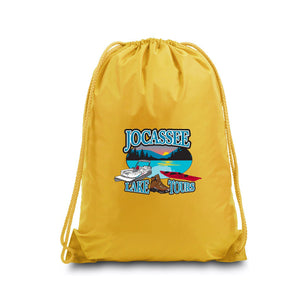 Jocassee Lake Tour Large Drawstring Backpack (Several Colors Available)