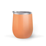 Pumpkin Monogram Wine Tumbler with Straw (Customization Available)
