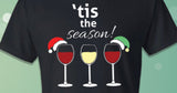 'Tis the Season 3 Wine Glasses Holiday Shirt
