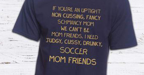 Mom friend versus soccer mom friend tshirt