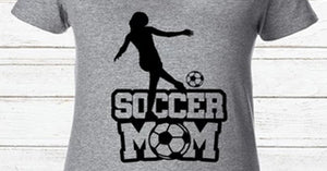 Soccer Mom short sleeve ladies' fitted super soft v neck tshirt