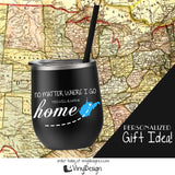 Your State Wine Tumbler with Straw (Customization Available)