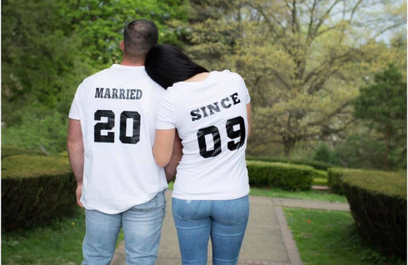 Married Since Wedding Anniversary matching t shirts