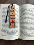 The Book is Always Better personalized wooden bookmark