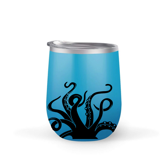 Octopus Wine Tumbler with matching straw