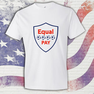 White Equal Pay United States US Women's National Soccer Team Inspired Unisex Tshirt