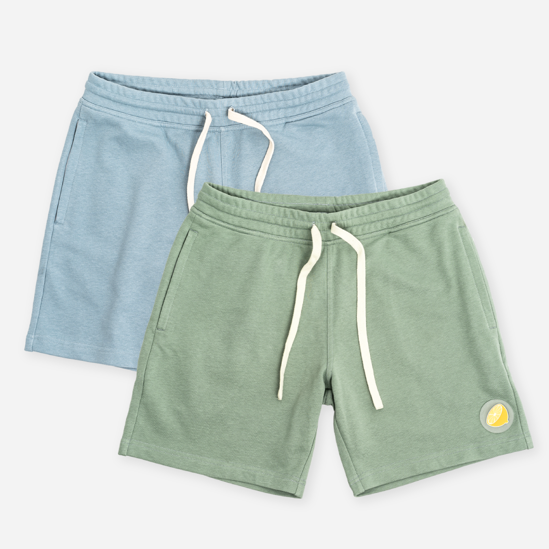 Avocado + Lemon Lounge Shorts Duo pack