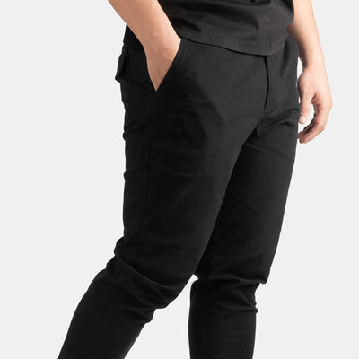 Solid Black Flex All Day Chino Pants