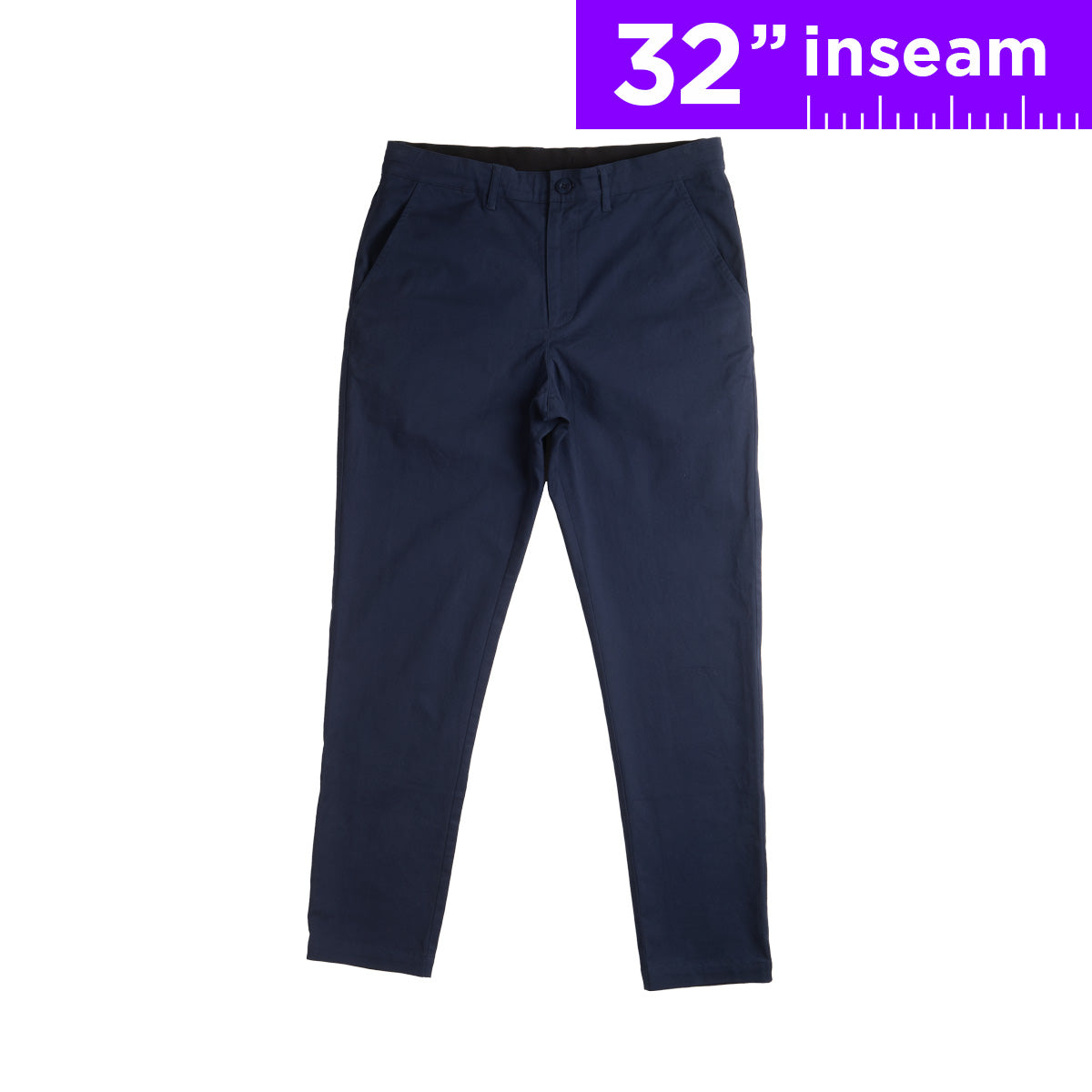"32"" Navy Blue Flex All Day Chino Pants"