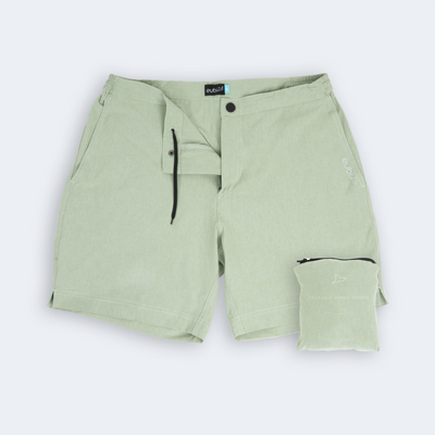 Mint Green Hybrid Shorts