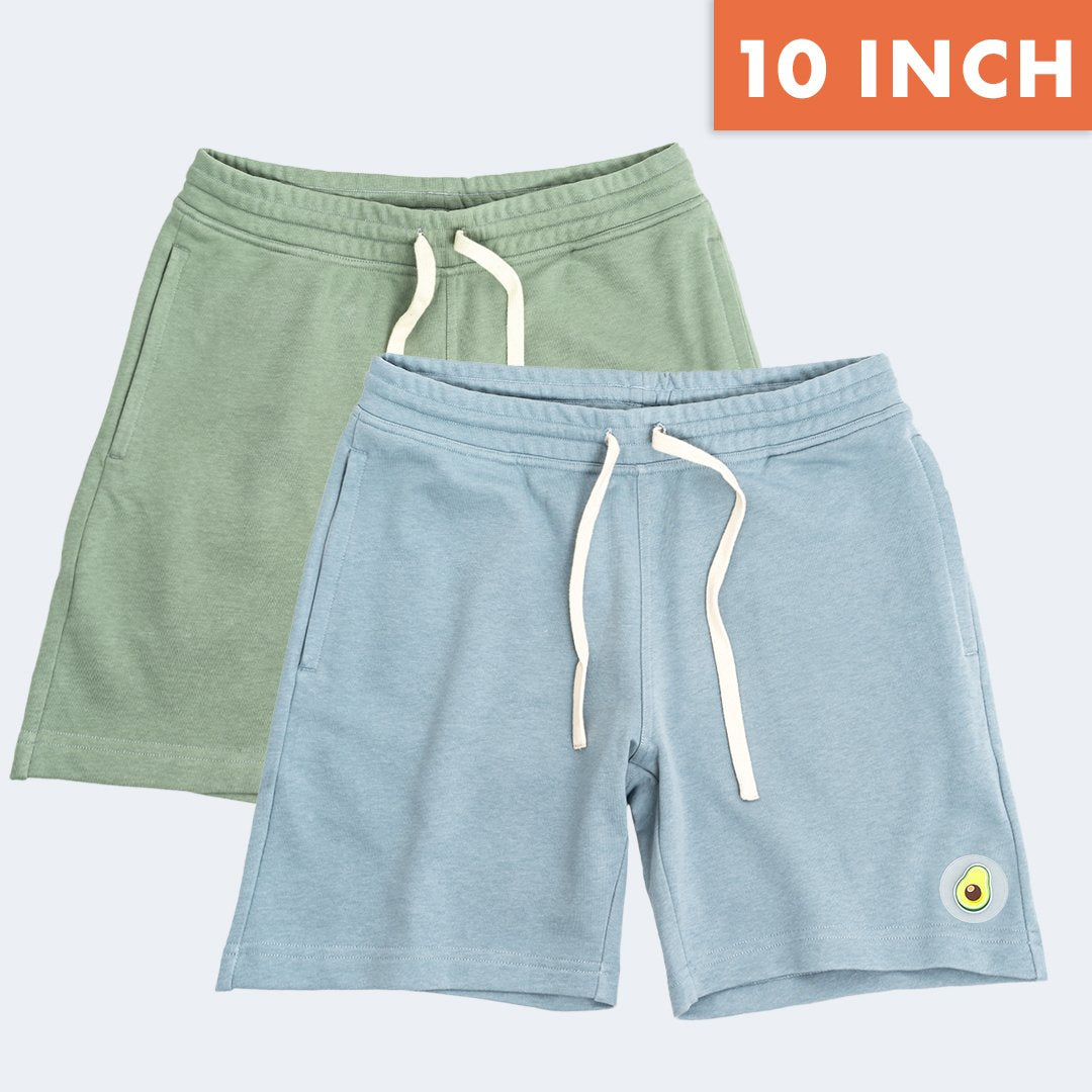 "10"" Avocado + Lemon Lounge Shorts Duo Pack"