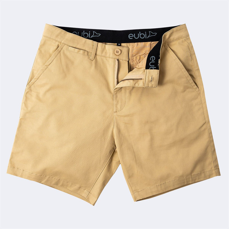 Khaki Brown All Day Shorts 2.0 (Stretch)