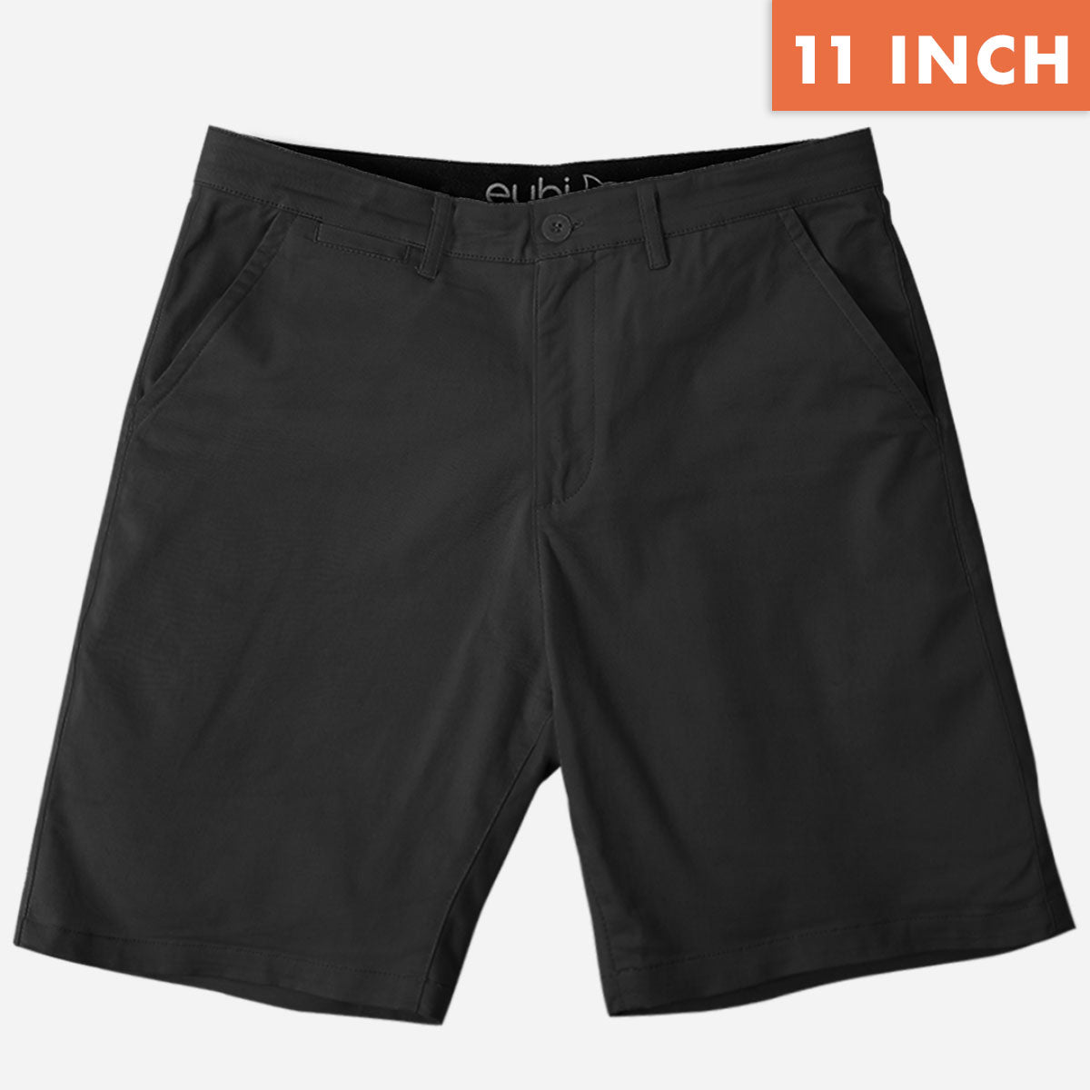 "11"" Black Chino Shorts"