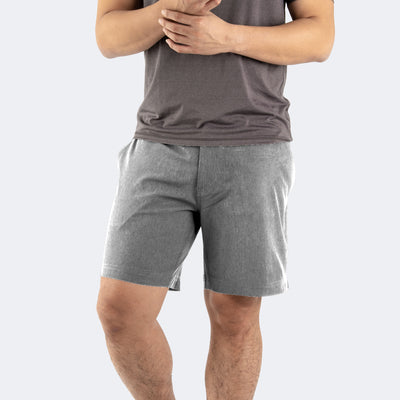 Heather Gray Hybrid Shorts