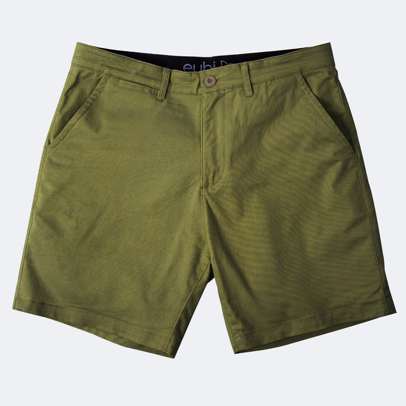 Ash Grey + Olive Green All Day Shorts 2.0 (Stretch) Duo Pack