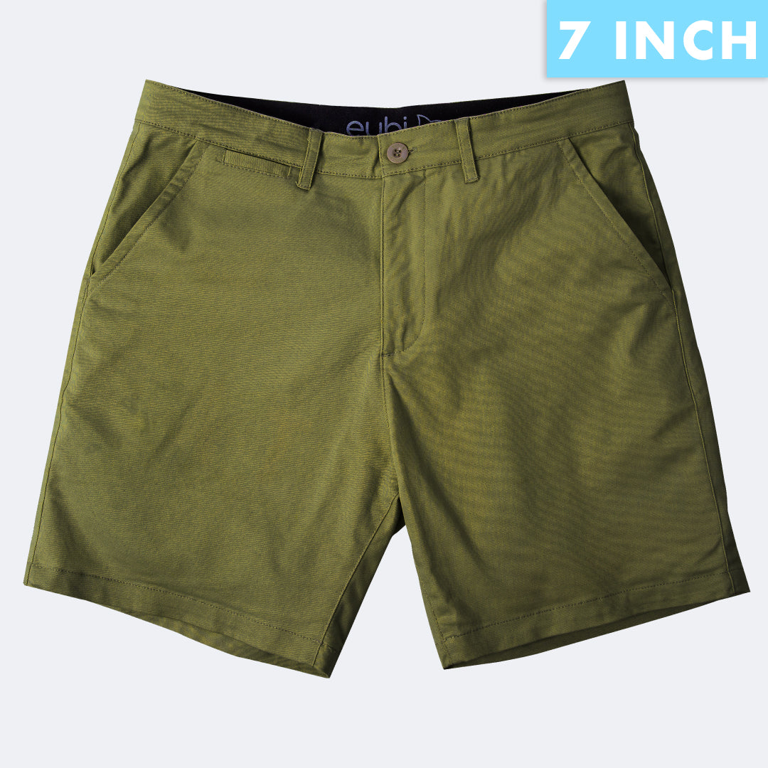 [SALE] Olive Green All Day Shorts 2.0 (Stretch)