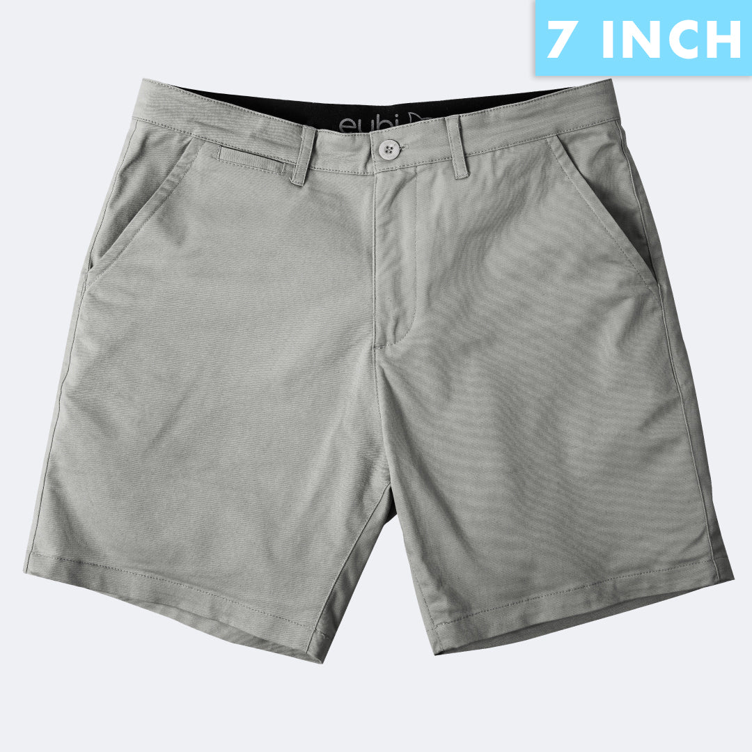 [SALE] Ash Grey All Day Shorts 2.0 (Stretch)
