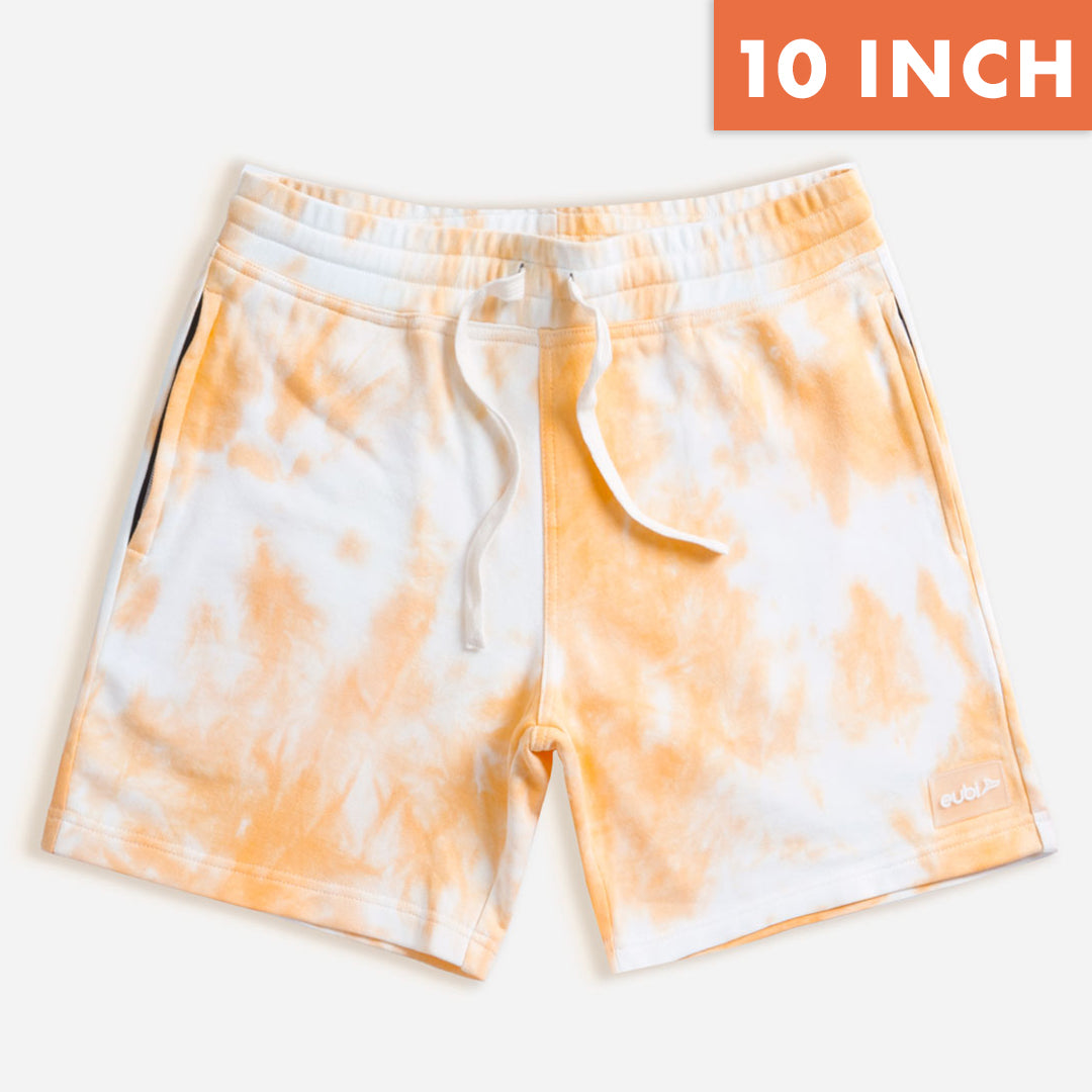 "[LIMITED EDITION] 10"" Tangerine Tie Dye Lounge Shorts"