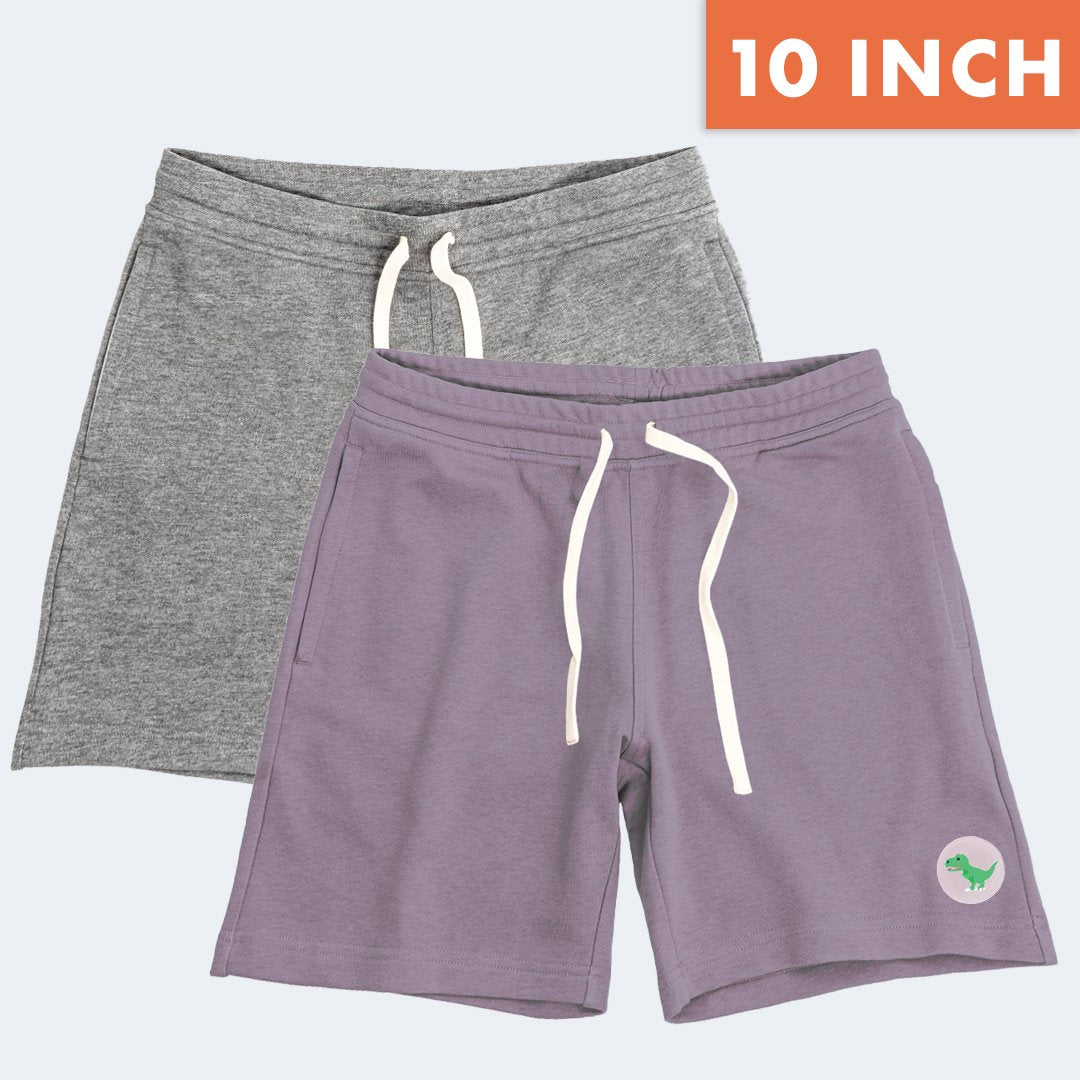 "10"" Watermelon + T-rex Lounge Shorts Duo Pack"