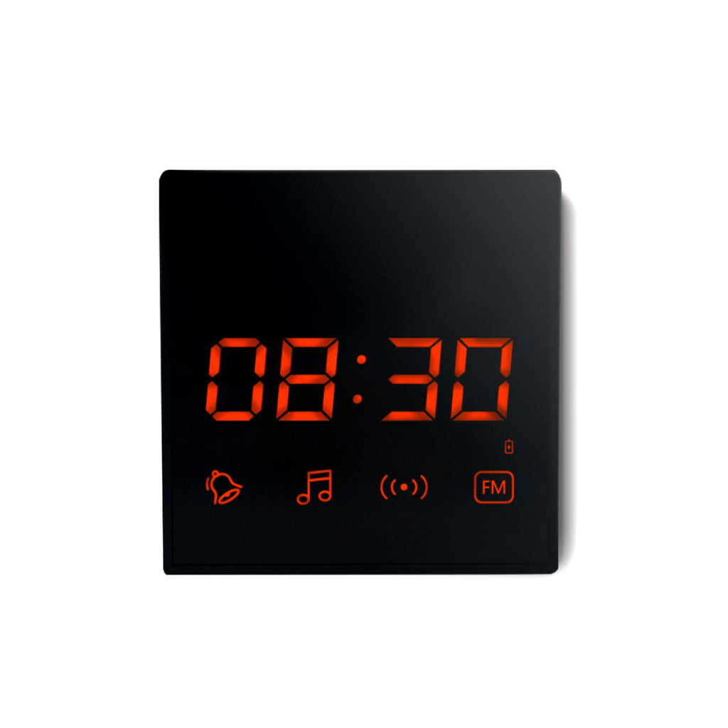 Smart Clock and Bluetooth Speaker with HD Security Camera GF-H100 Time Date Display Weather Bluetooth Music Device Invisible Lens Spy Cam Disguised Covert Surveillance