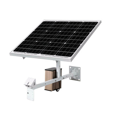 60W Solar Panel + Charger for HD Lithium Ion Battery Security Camera Li-Ion Rechargeable Renewable Spy Cam