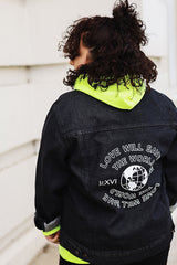 Love Can Save the World -  Limited Edition Black Denim Jacket