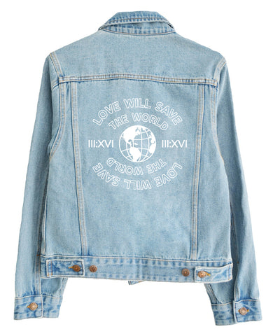 Love Can Save the World -  Limited Edition Blue Denim Jacket