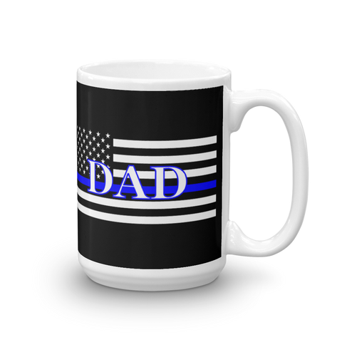 Thin Blue Line DAD Coffee Mug Black