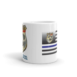 Swine Gear Thin Blue Line Flag Coffee Cup
